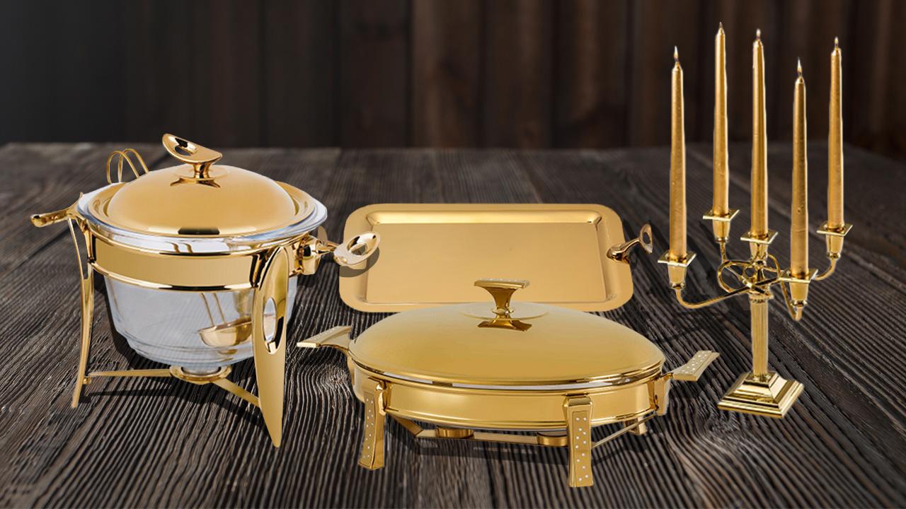 تجربه پذیرایی لذتبخش با ظروف طلایی دارای پوشش نانو